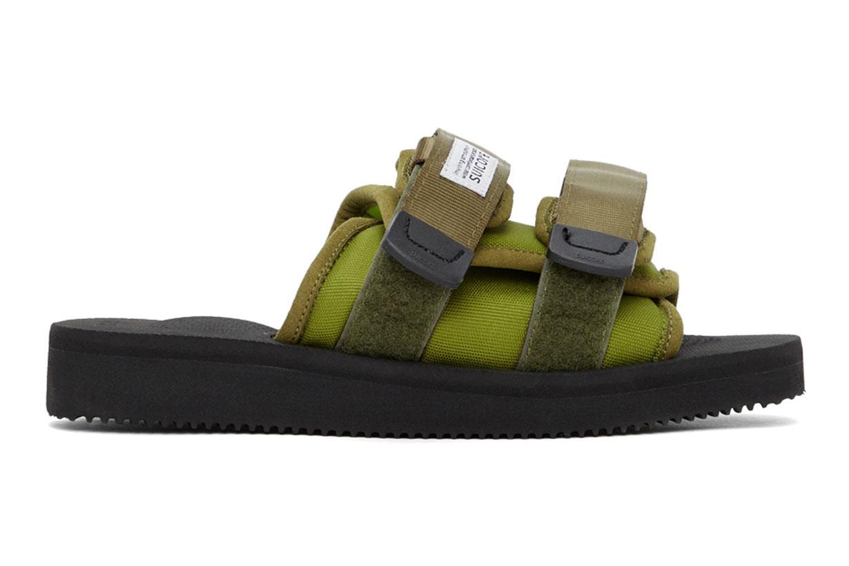 Green MOTO-Cab Sandals