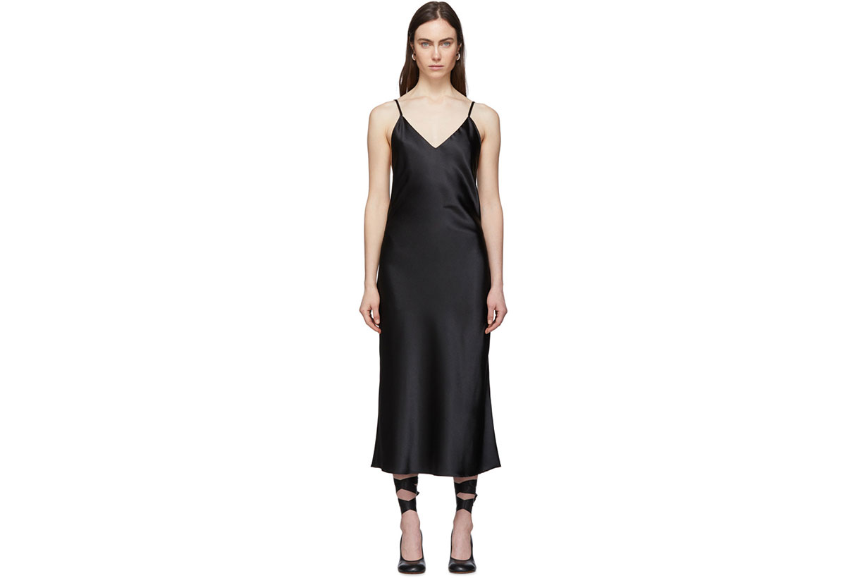 Le Petit Trou Black Ardeur Slip Dress
