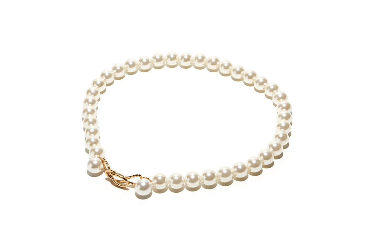 Lele Sadoughi 14K Gold-Plated Brass And Pearl Belt