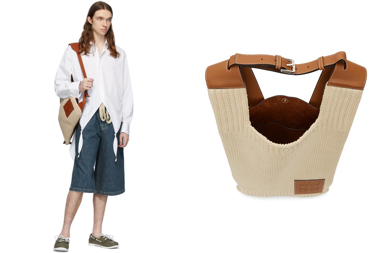 Loewe Beige Shopper Backpack