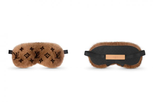 louis vuitton sleep mask fur luxury price 2020