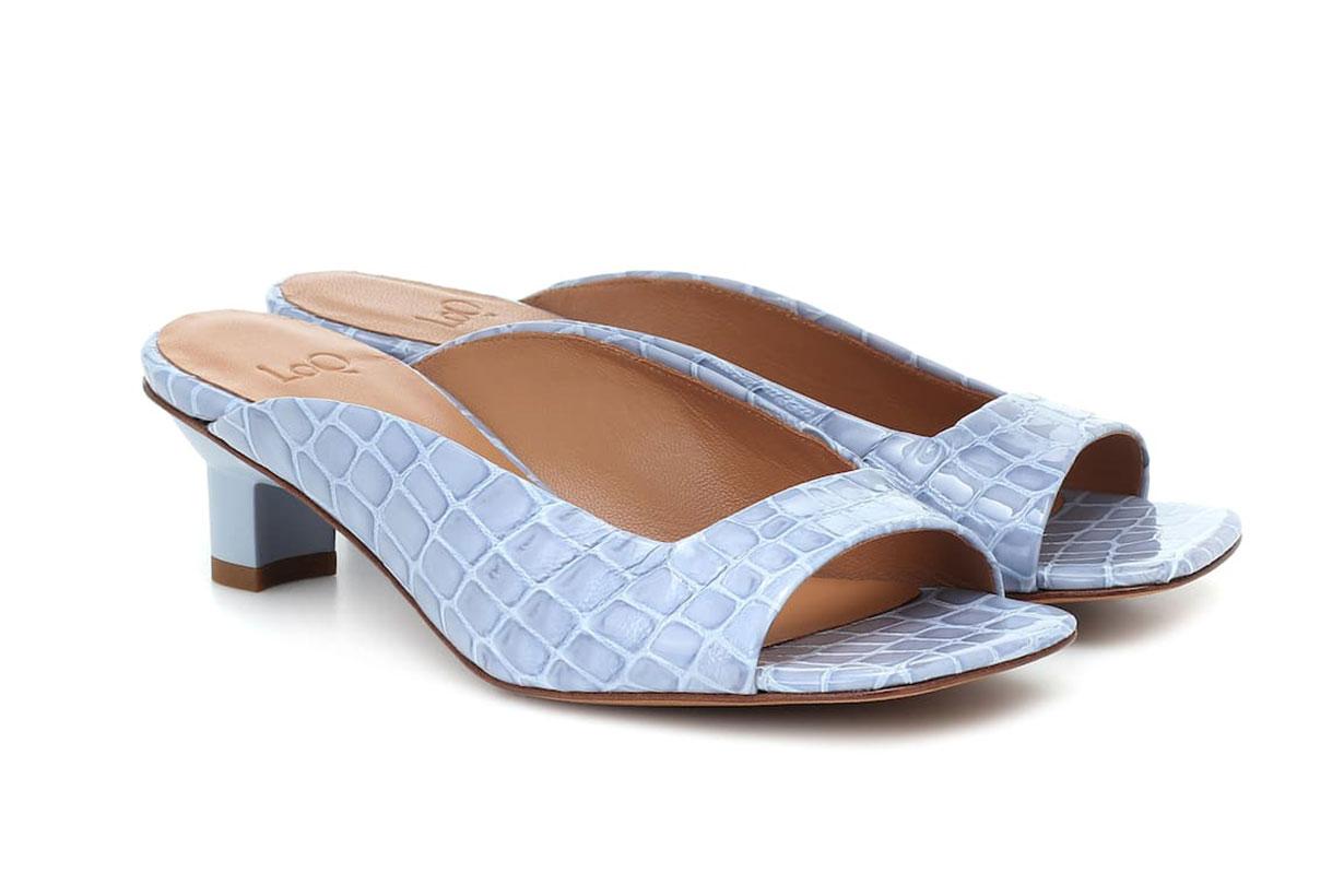 Parma croc-effect leather sandals