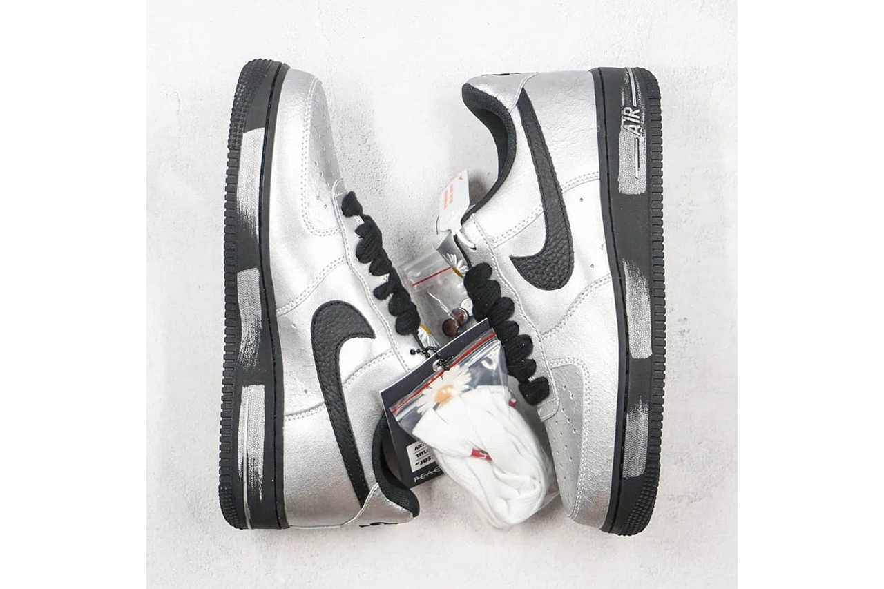 G-Dragon PEACEMINUSONE x Nike Air Force 1 white Sneakers