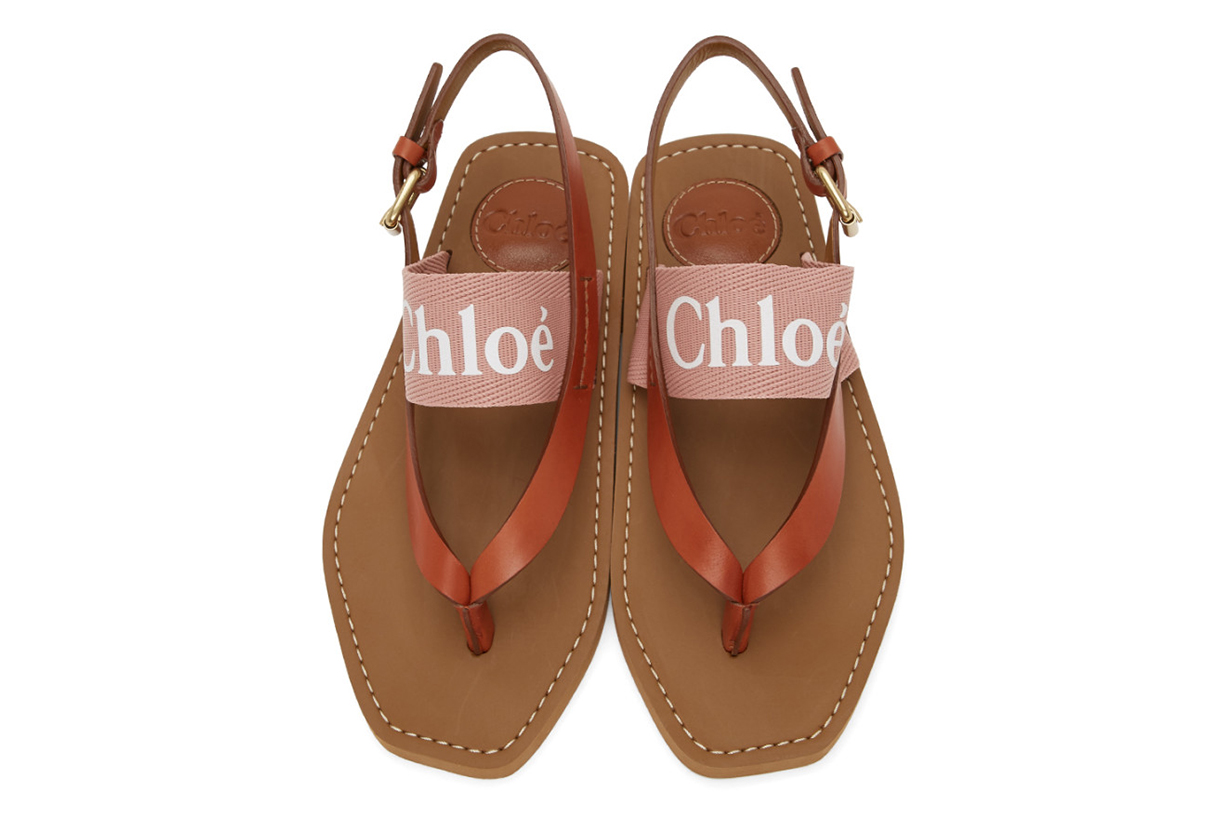Pink Woody Flat Sandals
