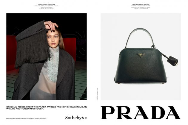 prada 2020 aw sotheby's auction campaign different way