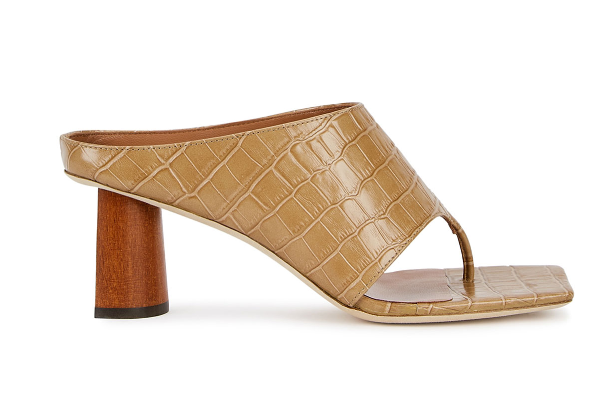 REJINA PYO Lina 60 camel crocodile-effect leather