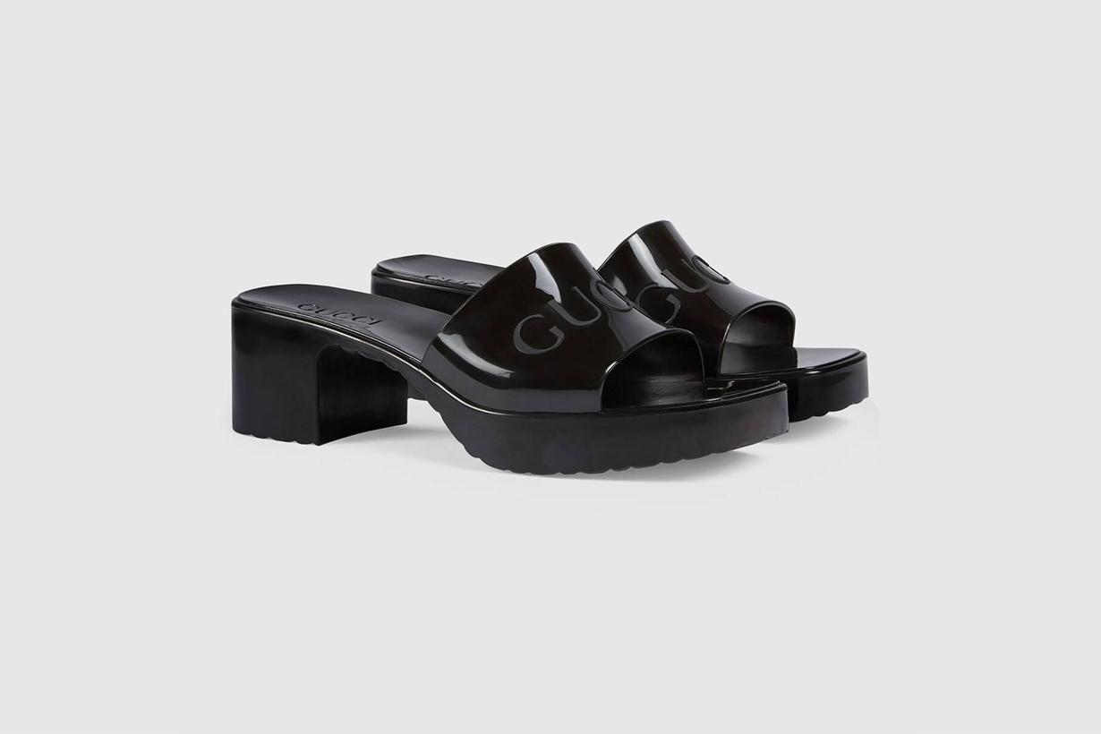 gucci towards the sun rubber slide sandals shoes 2020