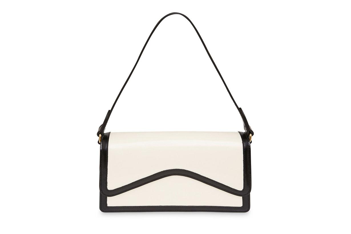 Rylan Baguette Two-Tone Leather Shoulder Bag