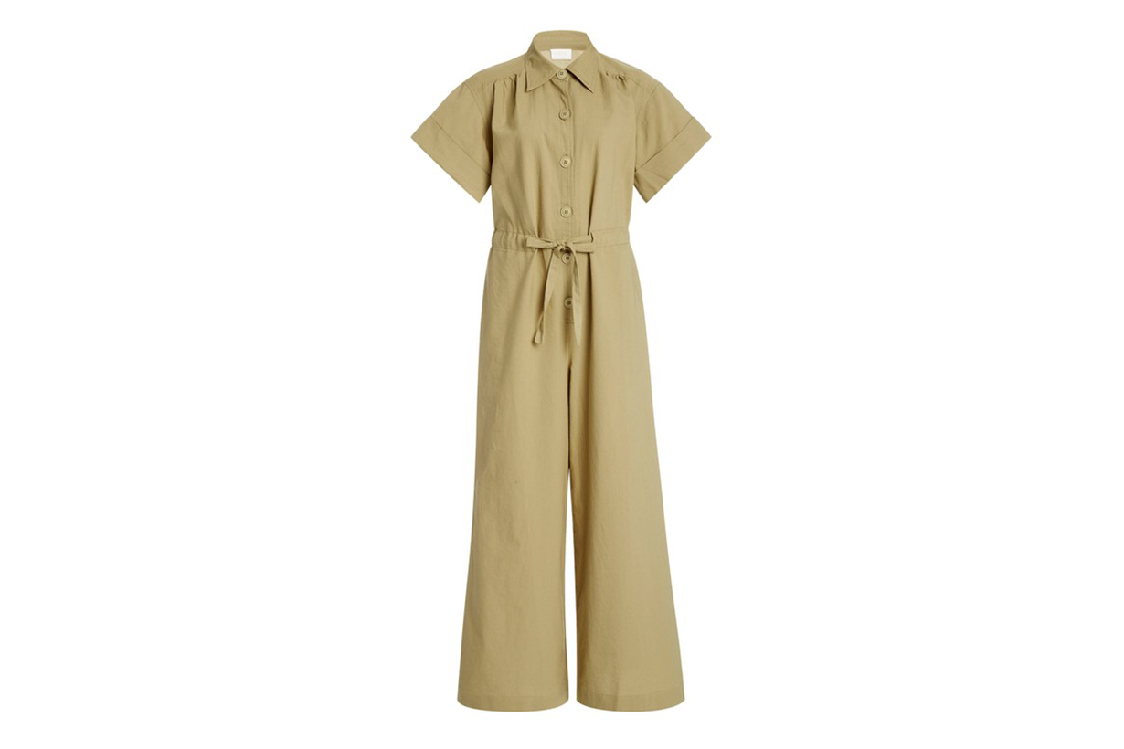 Simone Flared-Leg Cotton Jumpsuit