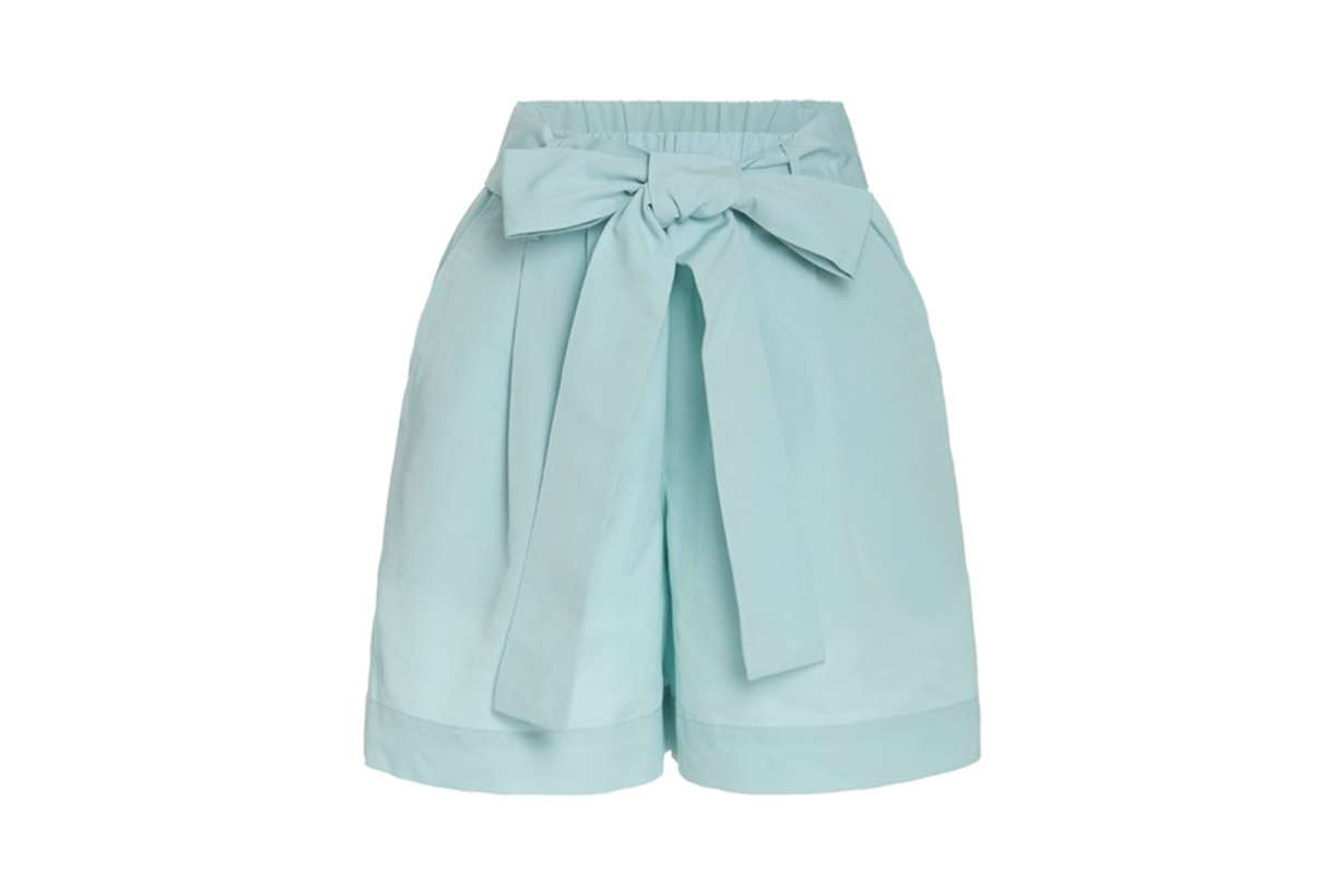 Staud Sage Grosgrain Shorts