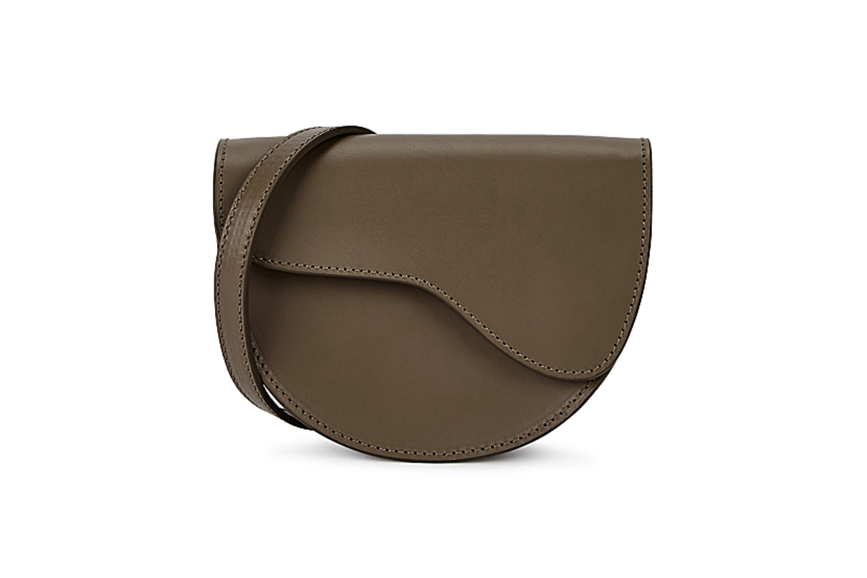 Taviano brown leather cross-body bag