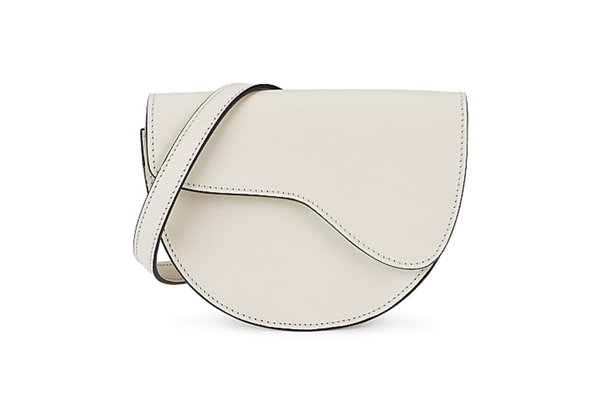 Taviano ecru leather cross-body bag