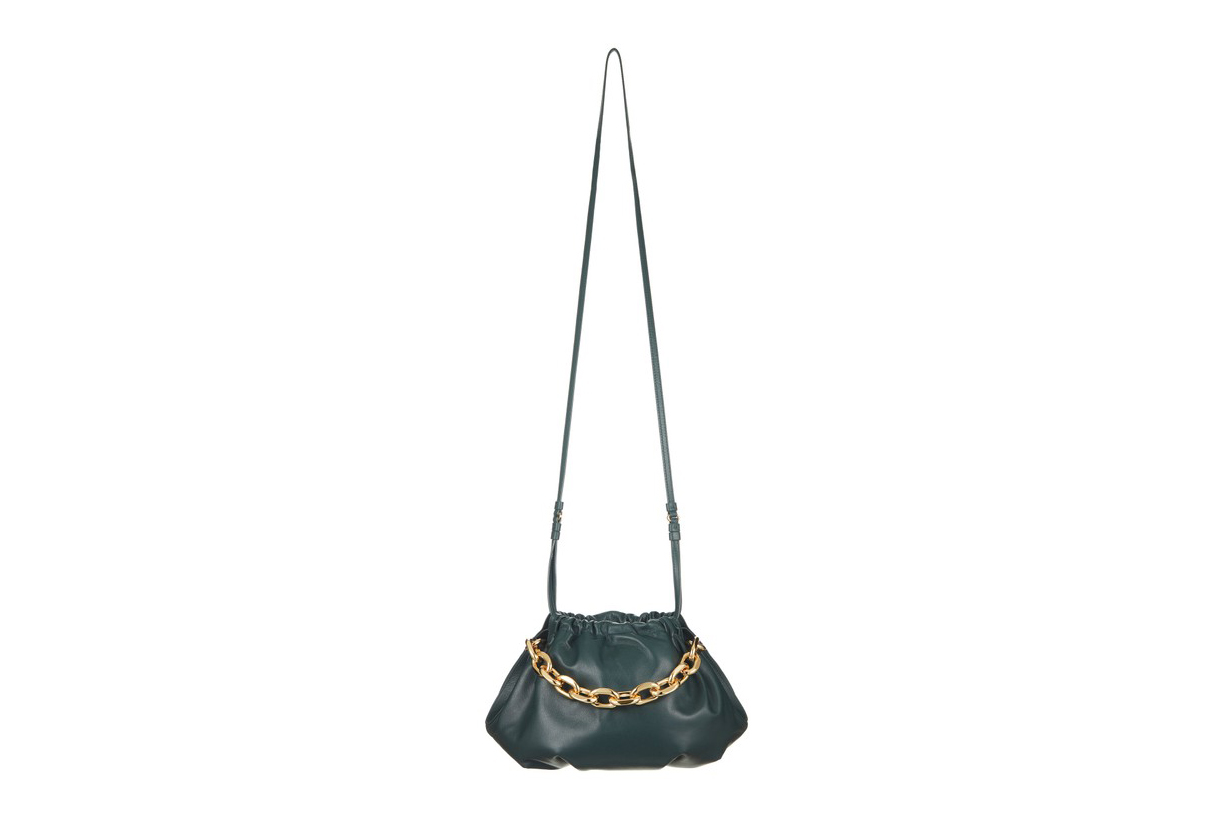 The Volon Gabi Chain-Embellished Leather Shoulder Bag