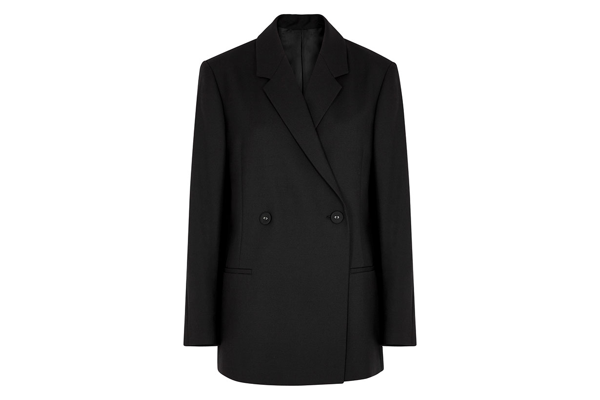 TOTÊME Loreo black double-breasted blazer