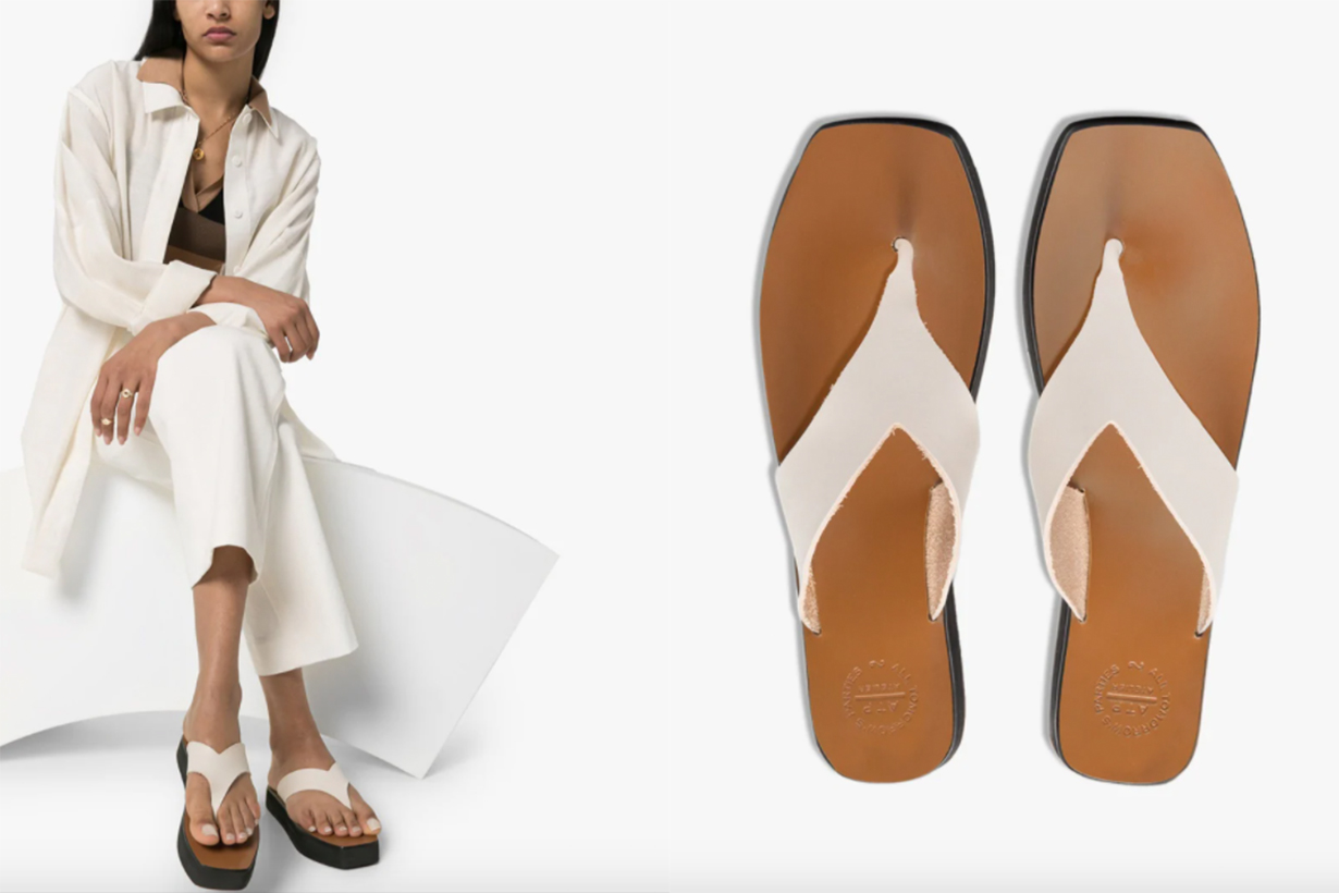 White Melitto Leather Sandals