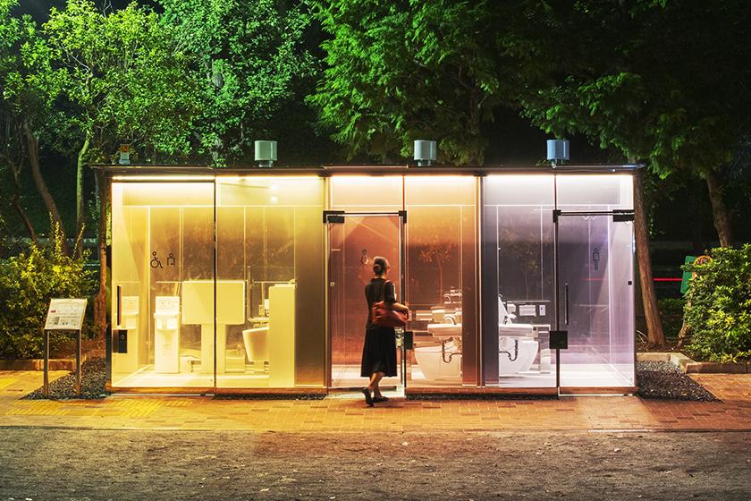 Tokyo Toilet Project Japan Shigeru Ban Transparent public Toilet