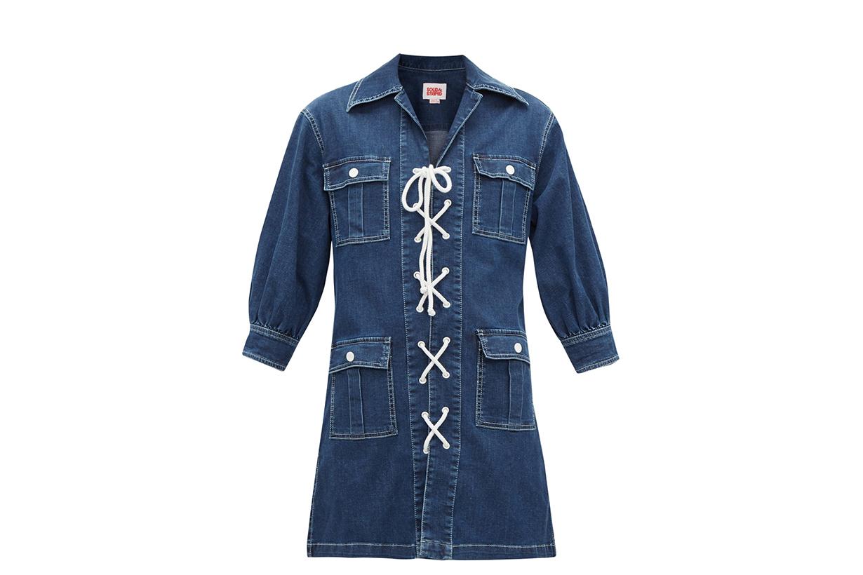 Best Denim Dress A.P.C. ALEXANDER MCQUEEN WEEKEND MAX MARA CO AJE MM6 MAISON MARGIELA MARNI GANNI SOLID & STRIPED JIL SANDER