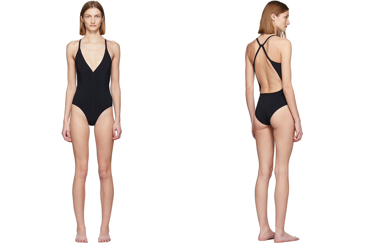 2020 Summer Swimsuit Style Trends one piece Swimsuit black swimsuit Rick Owens Anemone