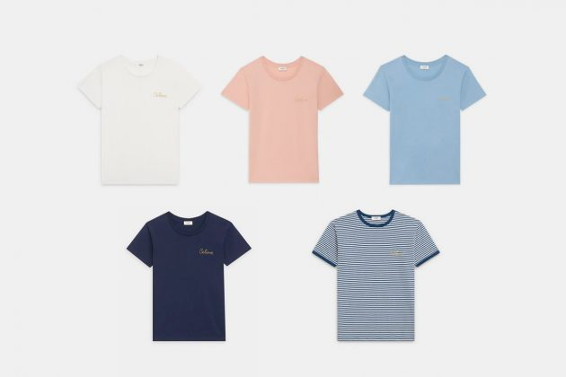 celine t-shirt embroidery summer basic items essentials
