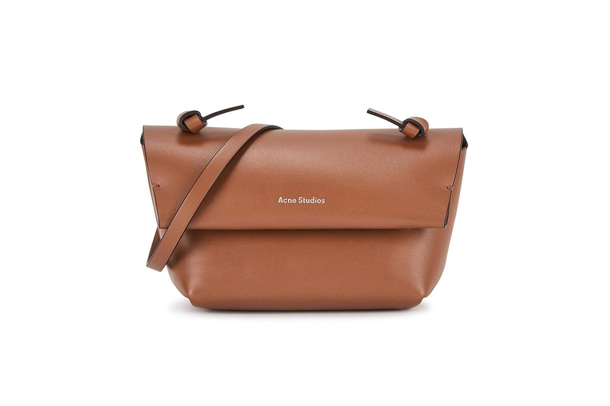 ACNE STUDIOS  Alexandria super mini brown leather cross-body bag