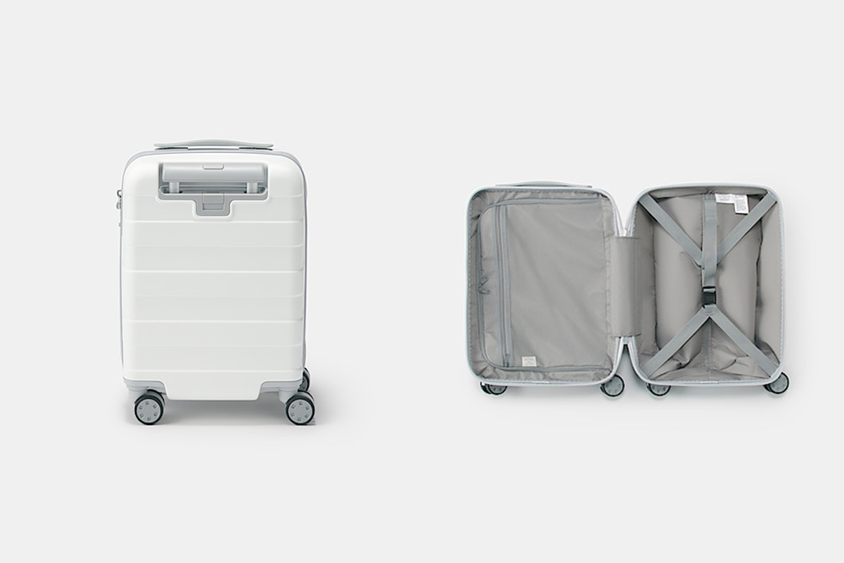 Muji travel luggage new color white 2020
