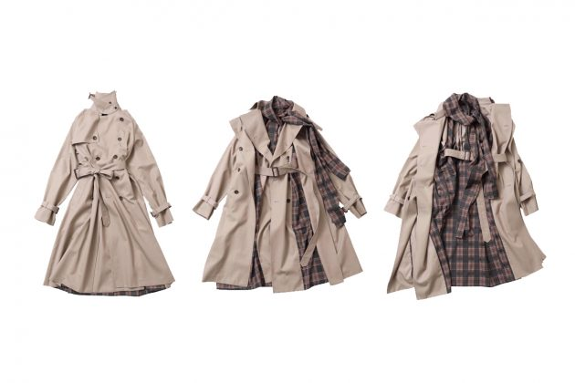 beautiful people japan trench coat 20 fw multiway