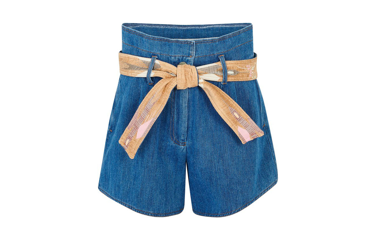 FORTE_FORTE Calvary denim shorts