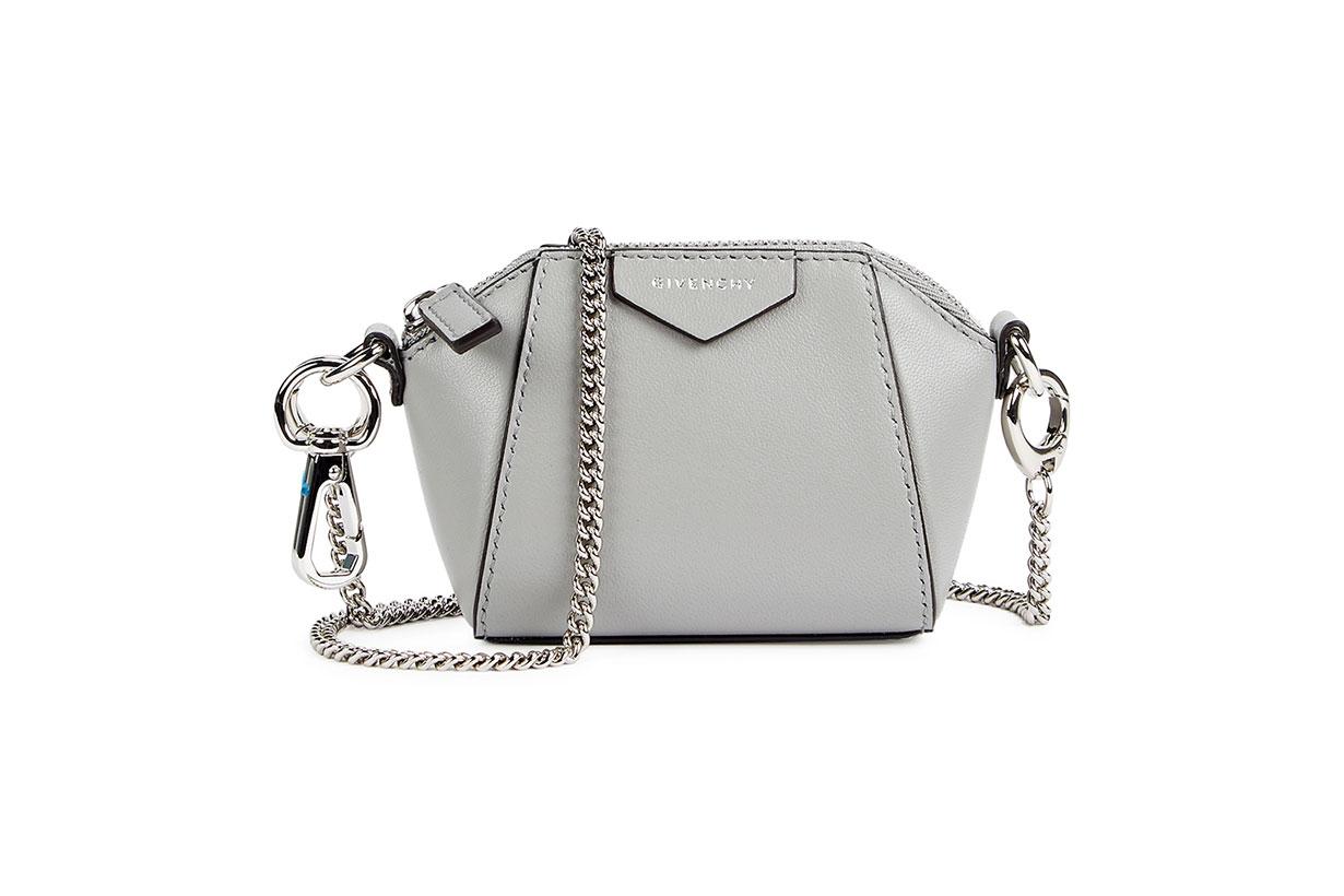 GIVENCHY  Antigona Baby grey leather cross-body bag