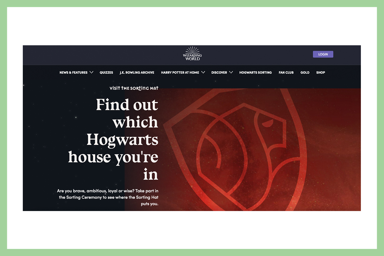 Harry Potter HSORTING HAT test Find out your Hogwarts house