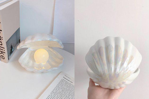 𝐐𝐨𝐨𝟏𝟎 pearl shell light homeware where buy price
