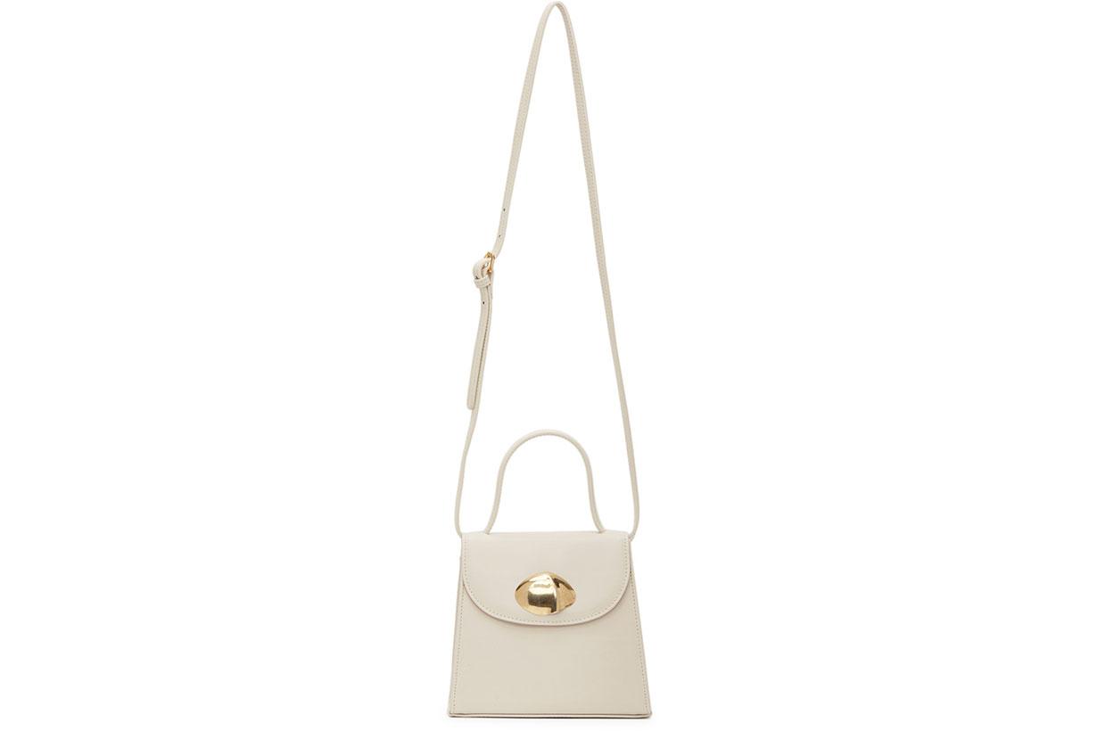 Little Liffner Off-White Little Lady Shell Bag