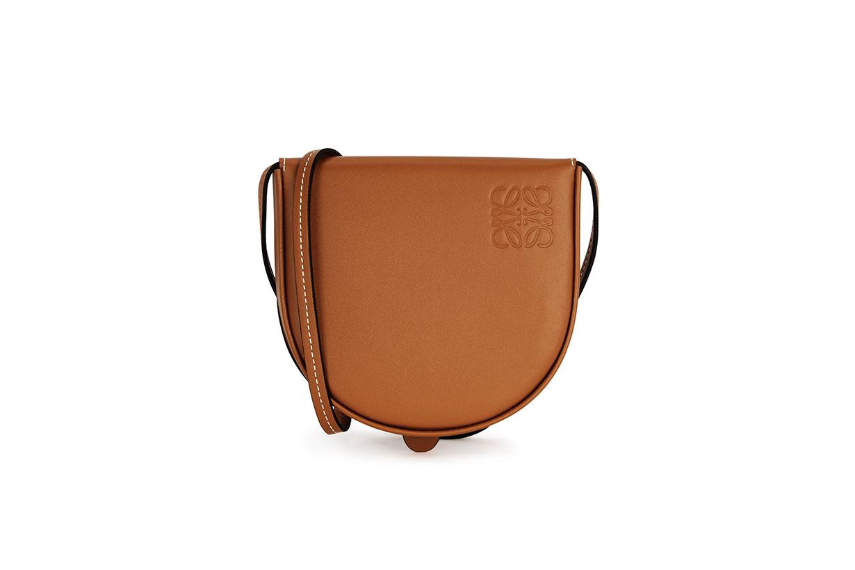 LOEWE  Heel small brown leather cross-body bag