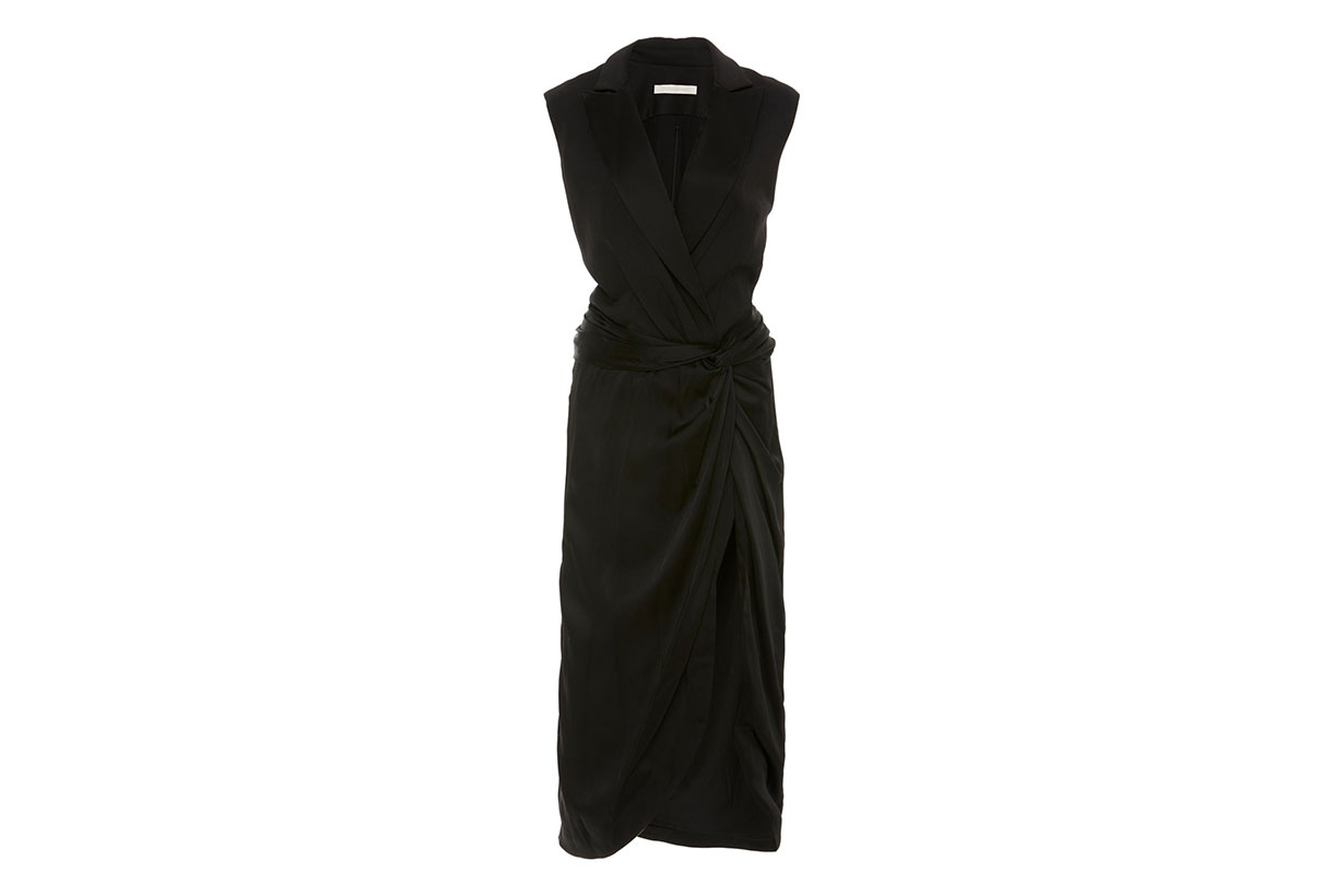 Lux Satin Combo Twist Dress