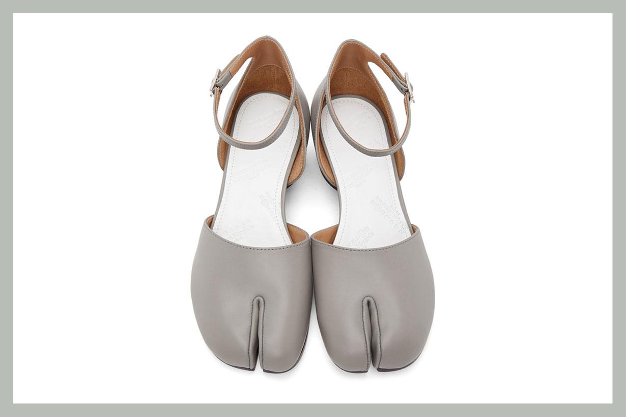 Maison Margiela SSENSE Exclusive Grey Tabi Ankle Strap Heels