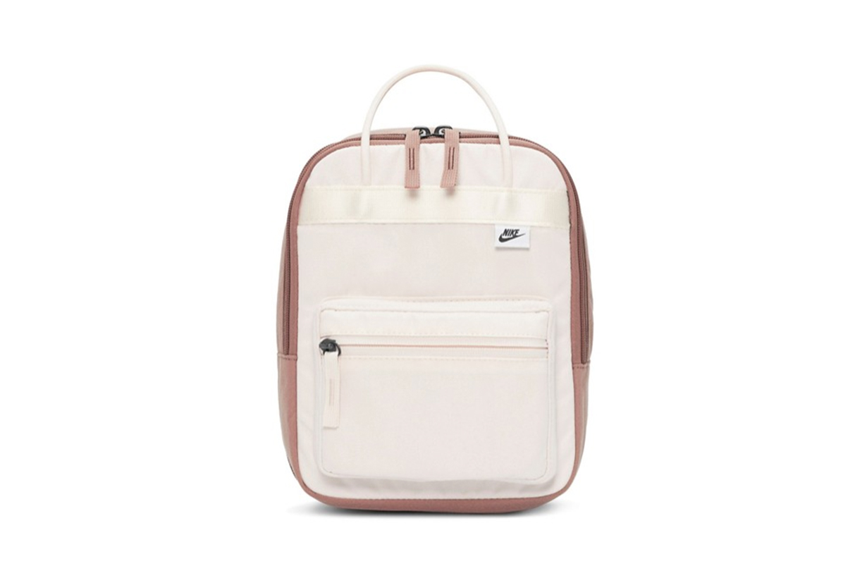 Nike premium mini backpack in cream