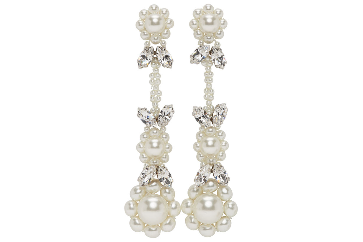 Off-White Victorian Earrings