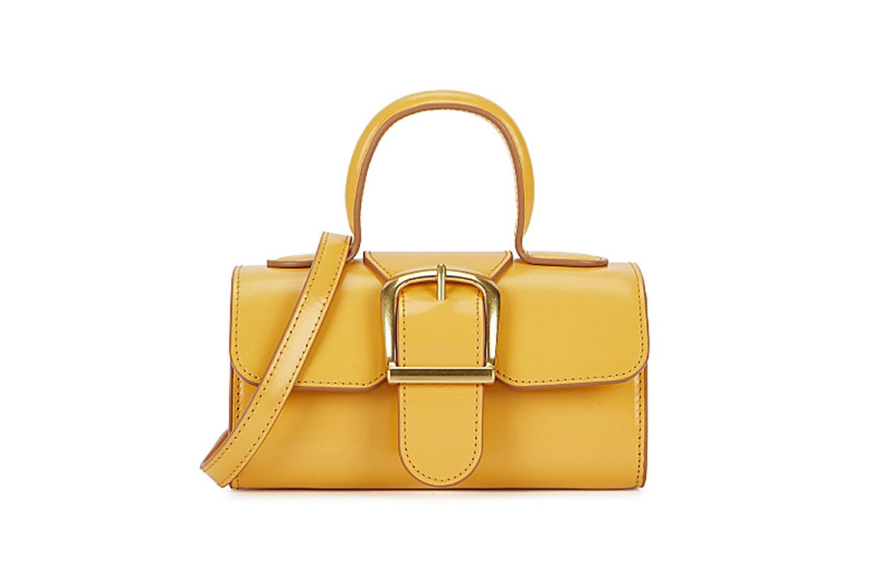 RYLAN  3.17 mini yellow leather top handle bag