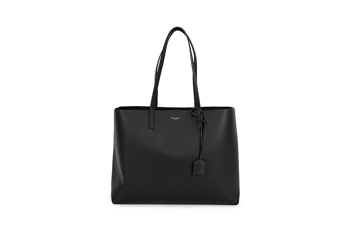SAINT LAURENT  Black leather tote