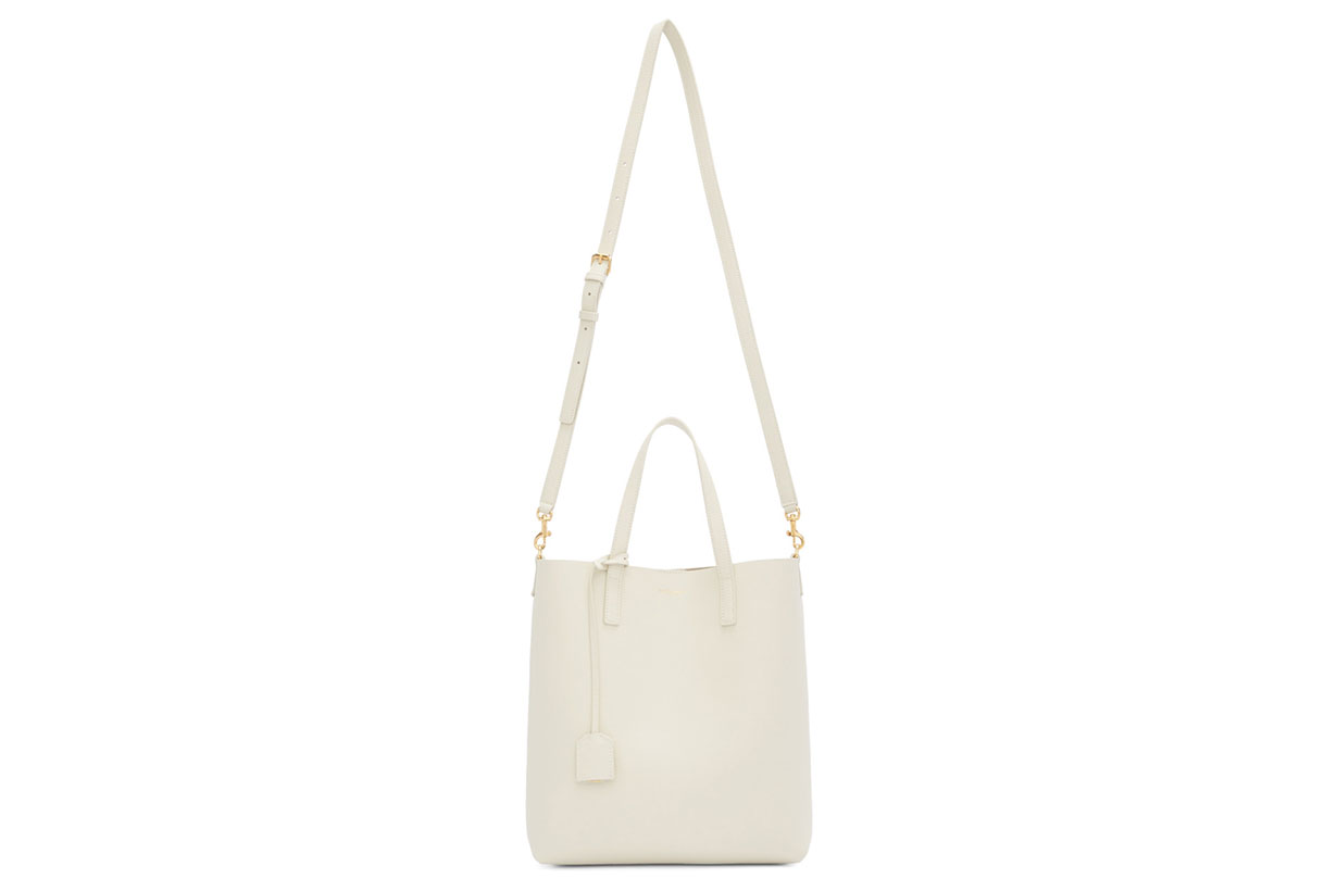 Saint Laurent Off-White Toy North South Tote