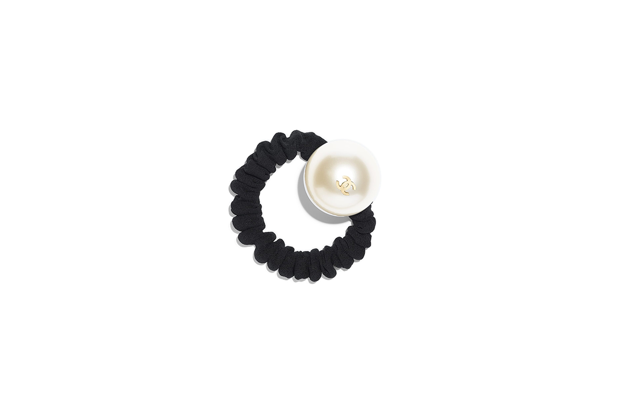chanel hair accessory grosgrain resin metal lifestyle pearl