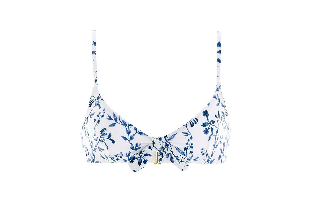 Tamarindo Acacias-Print Knotted Bikini Top