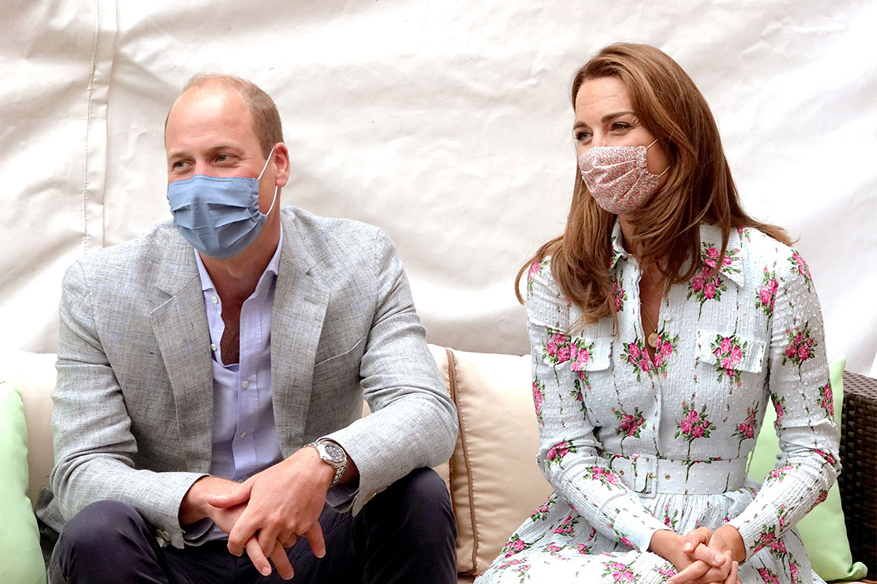 Britain's Prince William, Duke of Cambridge and Britain's Catherine, Duchess of Cambridge meet residents at the Shire Hall Care Home in Cardiff on August 5, 2020. (Photo by Jonathan Buckmaster / POOL / AFP)