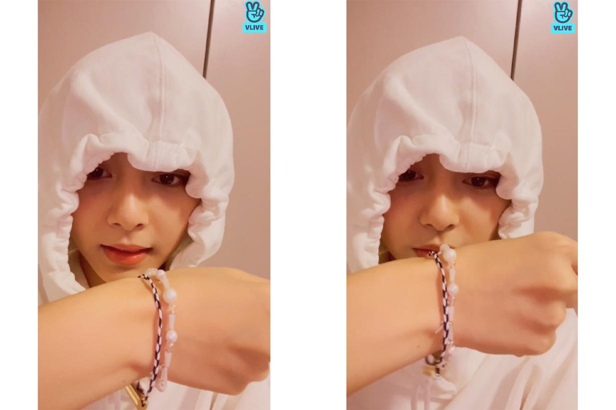 TWICE Chou Tzu Yu Tzuyu Diptyque perfumed woven bracelet Do Son Tam Dao  Eau Rose Celebrities Perfume Korean idols celebrities singers girl bands