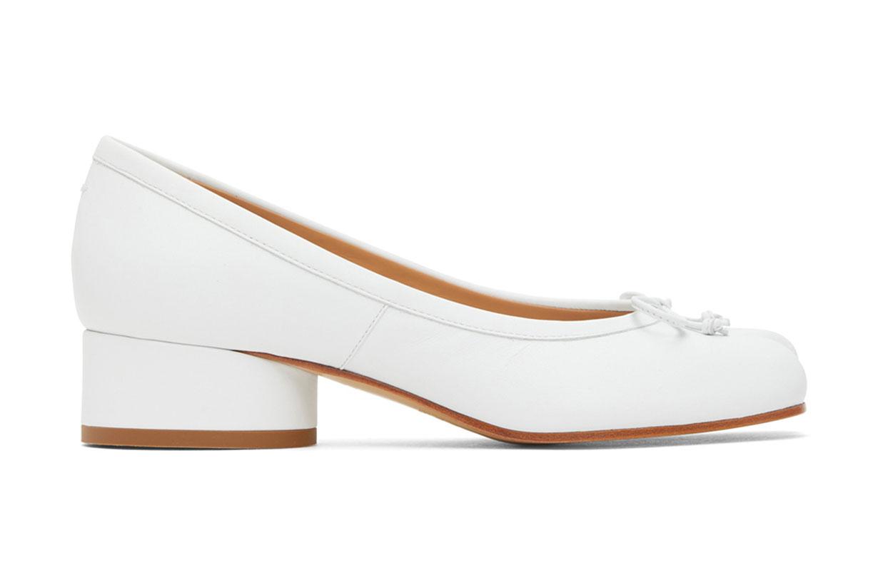 White Tabi Kitten Heels