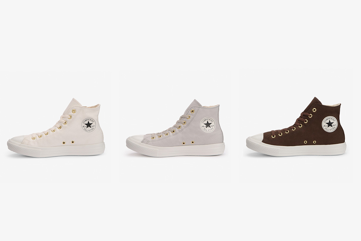 Converse Japan all star light gold zip hi shoes 2020