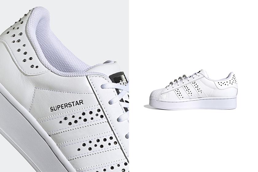 adidas White Superstar Swarovski Crystals