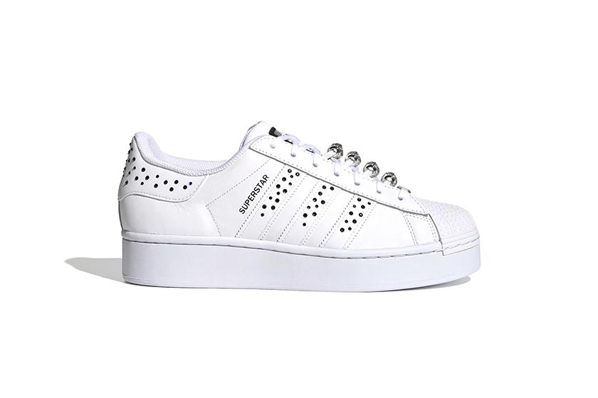 adidas White Superstar Bold Swarovski Crystals