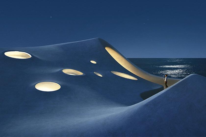 走進海濱的「Wormhole Library 雲洞圖書館」,欣賞像是穿越時空般的景色! – Popbee