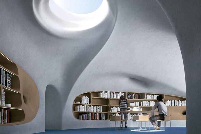 MAD Architects Wormhole Library hainan