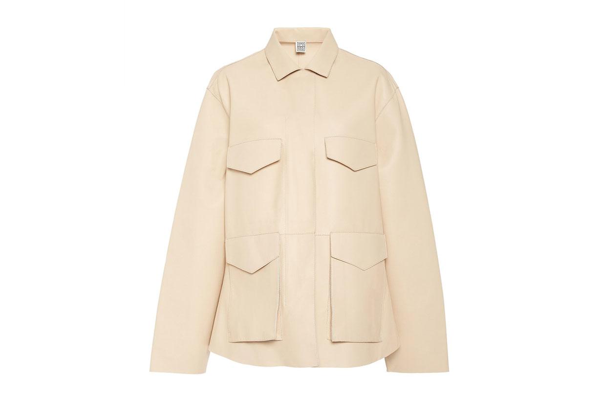 Avignon Oversized Leather Field Jacket